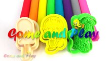 Learn Colors Play Doh Modelling Clay Popsicle Ice Cream Pororo Paw Patrol Microwave Surprise Toys-Uugf