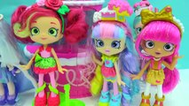 New Season 7 Shopkins Shoppies Dolls Cocolette Lucy Smoothie, Daisy Petals & Polli Polish-Iz35xi