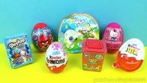 7 Surprise Eggs Yoohoo and Friends Shopkins Angry Birds Kindr Eggs ביצת קינדר ביצת הפתעה-1_Gm