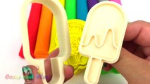 Learn Colors Play Doh Modelling Clay Popsicle Ice Cream Pororo Paw Patrol Microwave Surprise Toys-Uu