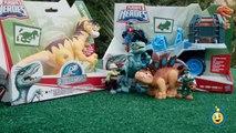 Jurassic World Toys Playskool Heroes Dino Tracker 4X4 & Dinosaur Velociraptor Raptor Figure-9JEbd