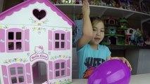 Big Purple Egg Surprises Golden Kinder Surprise Egg Toys HELLO KITTY DOLL HOUSE PLAYSET Frozen Anna-IlpQY