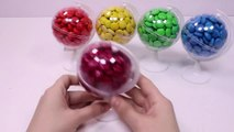 Learn Colors Chocolate Candy Ball Surprise Toys DIY Colors Foam Clay Slime-nOC