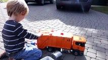 Bruder Toy Trucks for Children - Backhoe Excavators, Dump Trucks, Garbage Trucks & Fire Engine-CNbz
