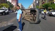 Diyarbakır'da trafik kazası 2 yaralı / 29 07 2016 / DİYARBAKIR