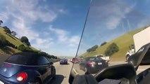 Rouler à fond dans les embouteillages   Mauvaise idée Accident Moto