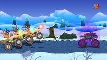 Monster lkw Stunts | LKW für Kinder | Spielzeug LKW | Learn Vehicles | Monster Truck Stunt