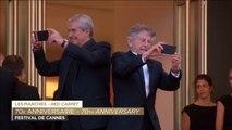 Selfie de Roman Polanski et Claude Lelouch - Festival de Cannes 2017