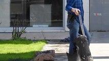 Küçük çocuğun bıraktığı şüpheli valiz fünye ile patlatıldı