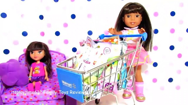 SURPRISE TOYS IN WALMART SHOPPING CART with AG Doll Ashlyn _ itsp