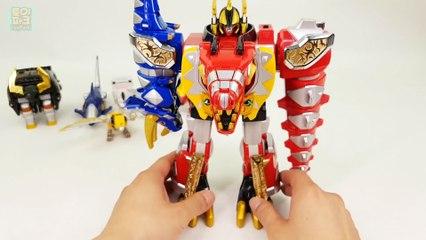 PowerRanger WildForce DX MegaZord VS DinoThunder DX ThunderMegaZord Beast VS Dinosaur Transformation
