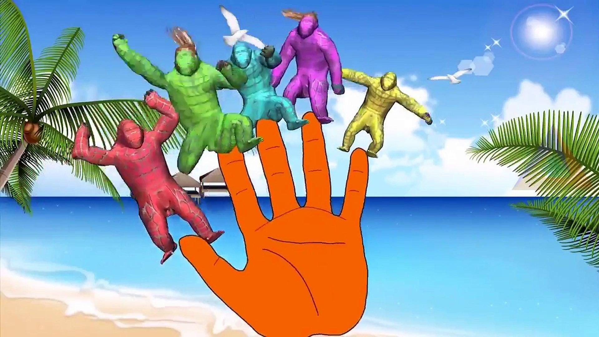 çocuklar için goril parmak aile çizgi filmi _ çocuklar için komik goril karikatürleri  çocuk şarkısı