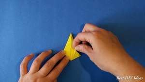 Easy Origami for Kids - Paper Bow Ti, Simple Paper Craft Idea for Kids