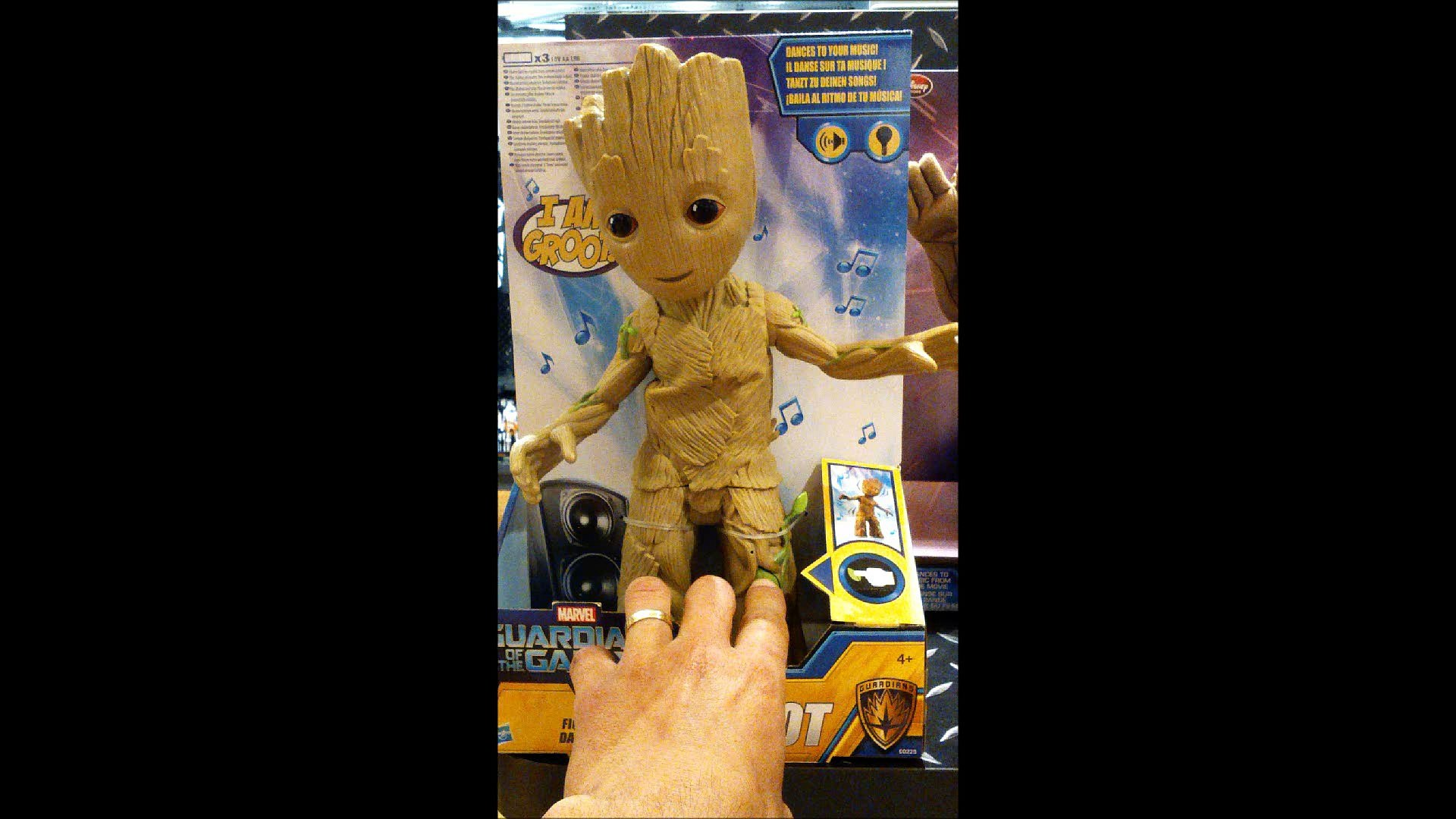 Les Gardiens de la Galaxie 2 Baby Groot Figurine Interactive Marvel Jouet Toy Review Disney Hasbro