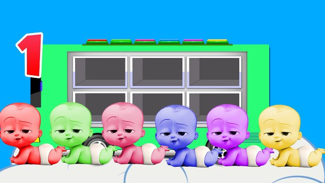 Learn Color with BOSS BABY in Kids Bus ! Color for Kids and Toddlers Education Cartoon Videos,Animated Cartoons movies 2017