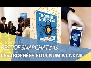 Best-of Snapchat #43 : Les Trophées Educnum à la CNIL