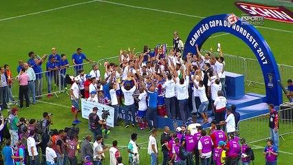 A GLÓRIA MAIOR! O momento em que o Bahia levou o troféu da Copa do Nordeste