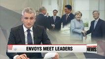 South Korean's special envoys meet with leaders Merkel and Putin