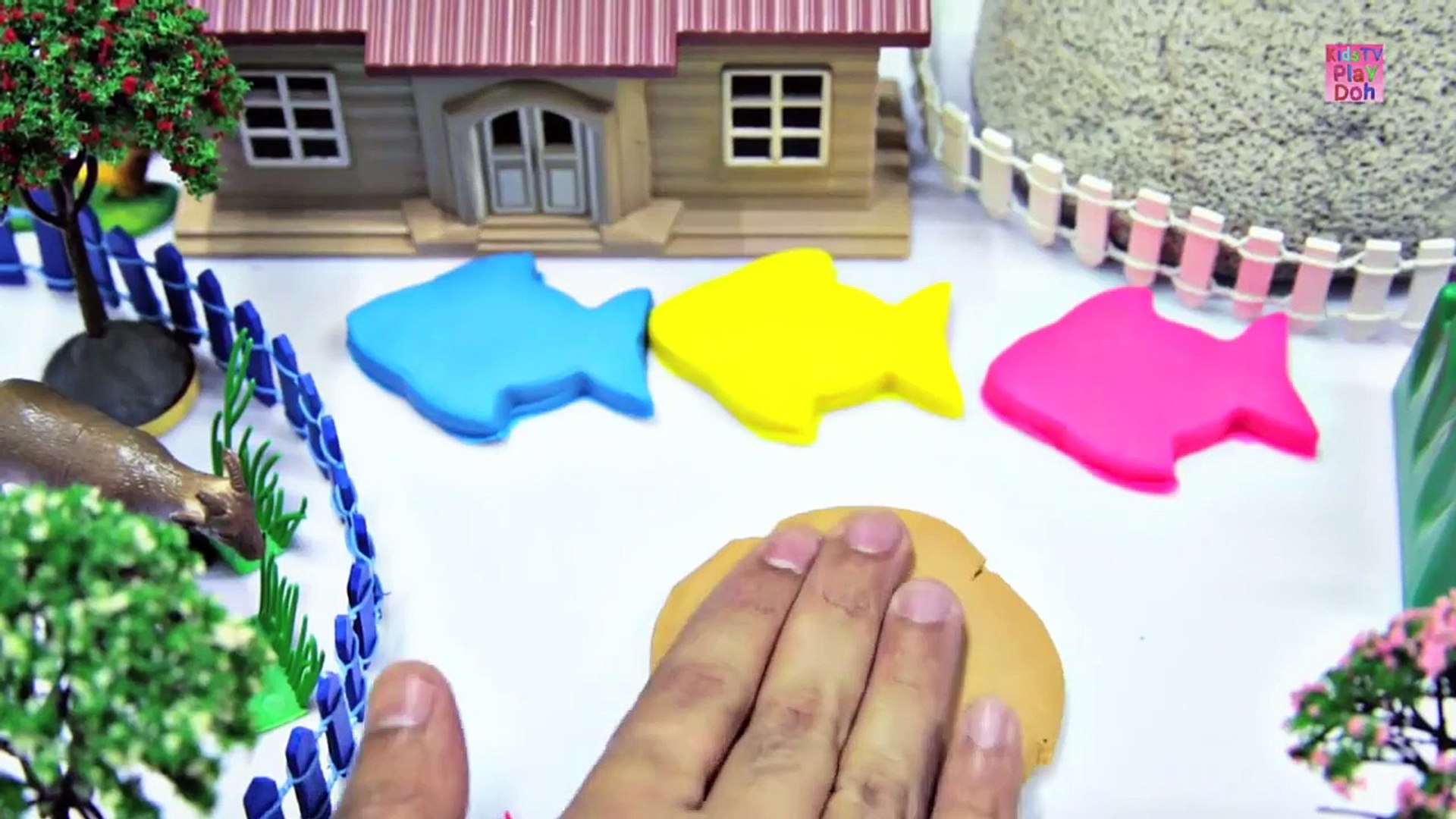 Learn Colors With Play Doh _ Play Doh Videos fo Kids _ Kids Learning Videos  _ Play Doh Fish