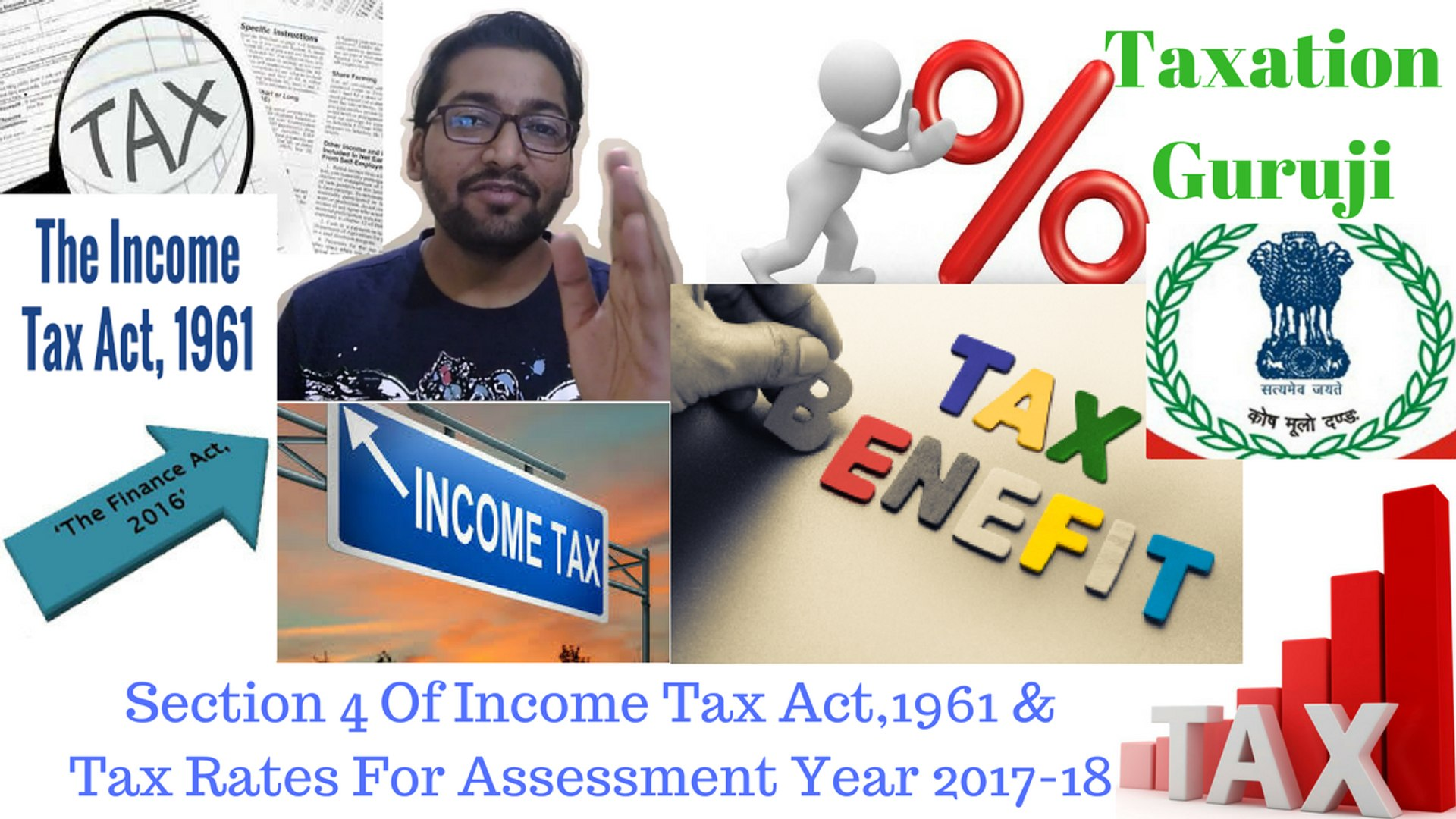 Section 4 Of Income Tax Act,1961  Tax Rates for Assessment Year 2017-18