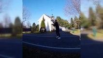 Girl falls off skateboard and other fails. The best fails. Januaqek 5.