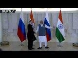 RAW: Putin arrives at BRICS summit in Goa, meets Indian PM Modi