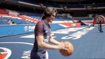 PSG : Edinson Cavani aussi bon au basket qu'au football ! (vidéo)