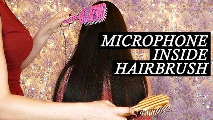 Hairbrush Microphones! Hair Brushing & Gentle Scalp Massage Sounds – ASMR Whispering