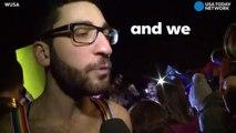 LGBT dance party outside Pence's D.C. home-BVIGX0DwK6s