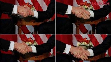 """Macron """"résiste"""" à la poignée de main de Trump (et devient une icône aux Etats-Unis)"""