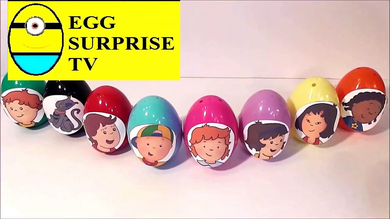Caillou surprise eggs  8 surprise eggs Cwqeqwe4234 kids  c