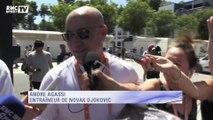 Roland-Garros : Agassi de retour, pour un premier entraînement avec Djokovic