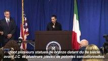 New York rend des antiquités volées à l'Italie