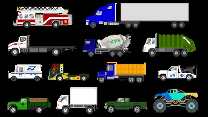 Trucks - Street, Sports, Emergency & Construction Vehicles - The Kids' Picture Show
