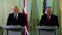 US & UK reaffirm relations after leak - Johnson, Tillerson
