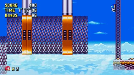 Knuckles in Flying Battery Zone de Sonic Mania