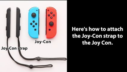 Nintendo Switch - Comment attacher les Strap des Joy-Con de