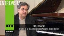 Pablo Sabat, pianista peruano y director de la Orquesta Sinfónica Nacional Juvenil de Perú