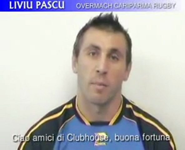 Liviu Pascu saluta The Clubhouse