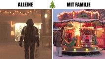 Weihnachten alleine VS. Weihnachten mit Familie