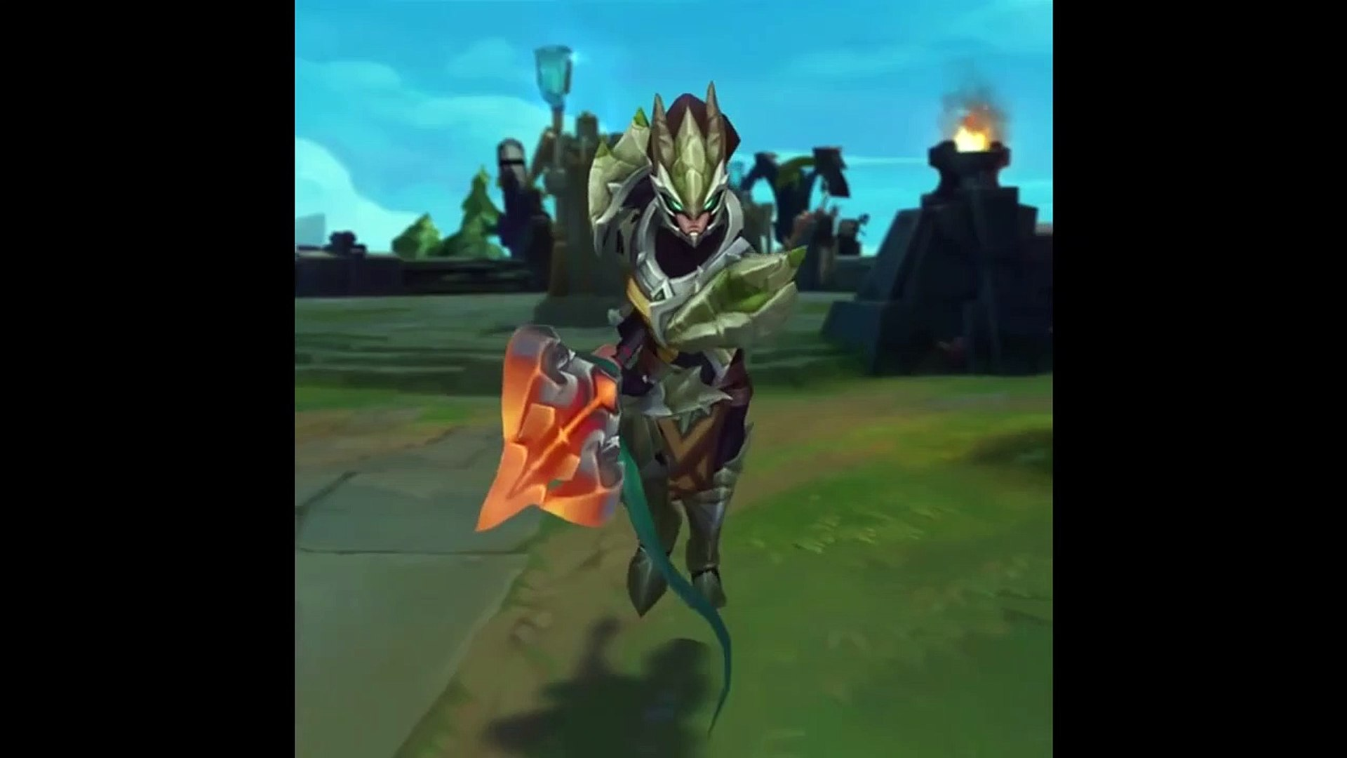 Dragonslayer Xin Zhao and Drgon Sorceress Zyra Skin Preview _ Teaser - League of Legends-5