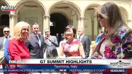 En Sicile, Melania Trump apparaît avec une veste Dolce   Gabbana coûtant  plus de 51.000 dollars ! 155d4862a922