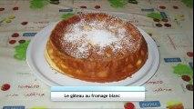 Gâteau au fromage blanc sans pâte léger et moelleux   recette facile - cheesecake