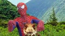 Spiderman RIDE Raptor Dinosaur! Venom Joker Hulk Superheroes Race With Raptor in Real Life Dinosaur