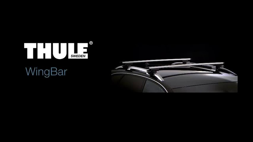 Установка багажника Thule WingBar на продольные рейлинги