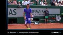 Roland-Garros 2017 : l'incroyable échange entre Dominic Thiem et Bernard Tomic (vidéo)