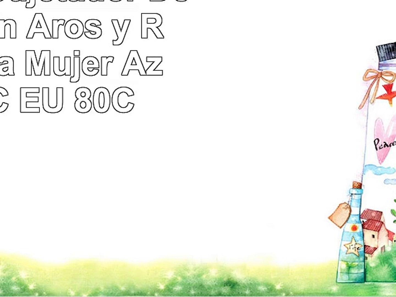 SYROKAN  Sujetador Deportivo con Aros y Relleno Para Mujer Azul ES95C EU 80C