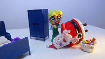 Santa Claus Breaking and Entering Elsa's Place _ Christmas Play Doh Stop