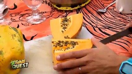 TAHITI QUEST Episode 4  - Papa Orange veut faire goûter la papaye aux e