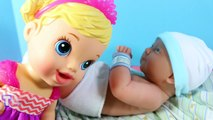 Baby Alive Newborn NEW BABY GIRL Big Sister BIG HEAD Baby Dolls Collection Funny Video